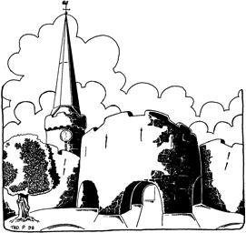 Church line drawing